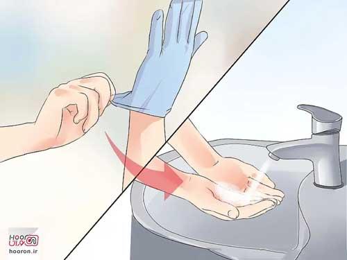 استریل کردن دست ها